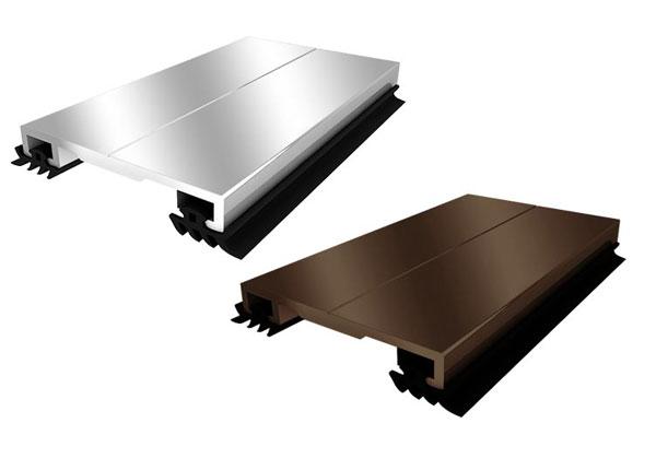 Алюминиевый профиль крышка АПК 40 (с уплотнителями)  бронзовый