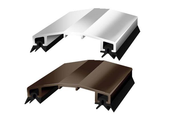 Алюминиевый профиль крышка АПК 60 (с уплотнителями)  бронзовый