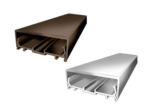 Алюминиевый профиль крышка АПКД 50 (с уплотнителями)  серебрянный