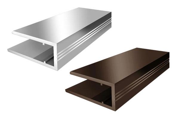 Алюминиевый торцевой профиль АПТ 16 бронзовый